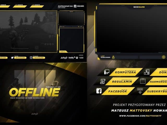 FREE TWITCH STREAM OVERLAY TEMPLATE 2018 #3