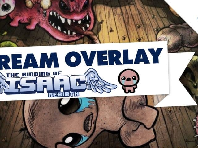 Twitch/YouTube Stream Overlay | The Binding of Isaac | OBS/XSplit | FREE
