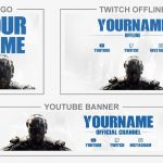 Call of Duty: Black Ops 4 (Youtube Banner, Logo, Twitch Offline - Templates) + TUTORIAL