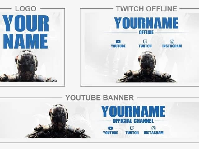 Call of Duty: Black Ops 4 (Youtube Banner, Logo, Twitch Offline – Templates) + TUTORIAL