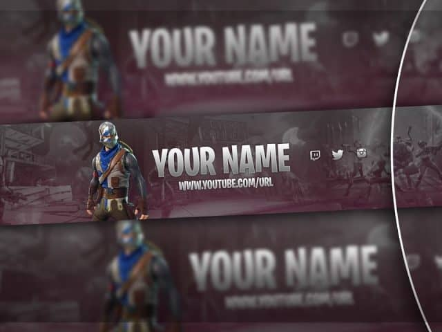 Fortnite Banner FREE Template! (Fortnite GAMING Banner FREE Download)