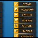 Twitch panels and icons - SET2 - Blue, Orange and Pink