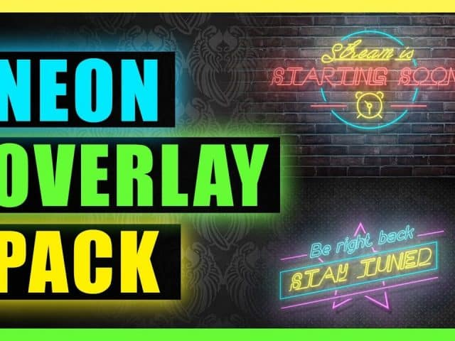 Twitch Animated overlay – NEON SIGN