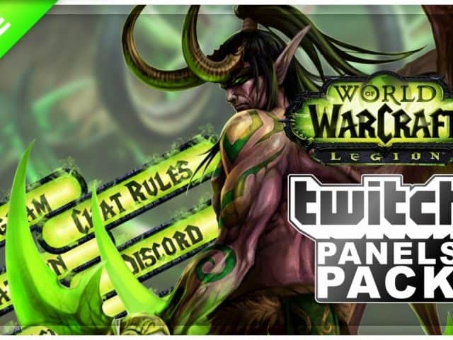 World of Warcraft Legion Twitch Panels  | FREE DOWNLOAD