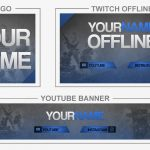 Fortnite Blue (Youtube Banner, Logo, Twitch Offline – Templates) + TUTORIAL (how to edit)