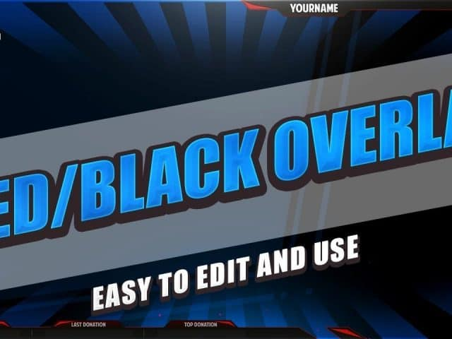 [4 free] **MBlack/Red Overlay** OBS/Twitch 1080p – Download .psd
