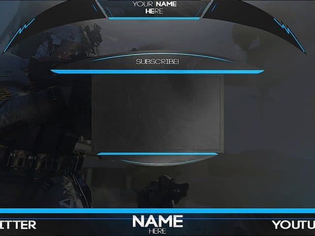 Twitch and youtube Overlay Banner Template livestream Free PSD 2017 [HD]