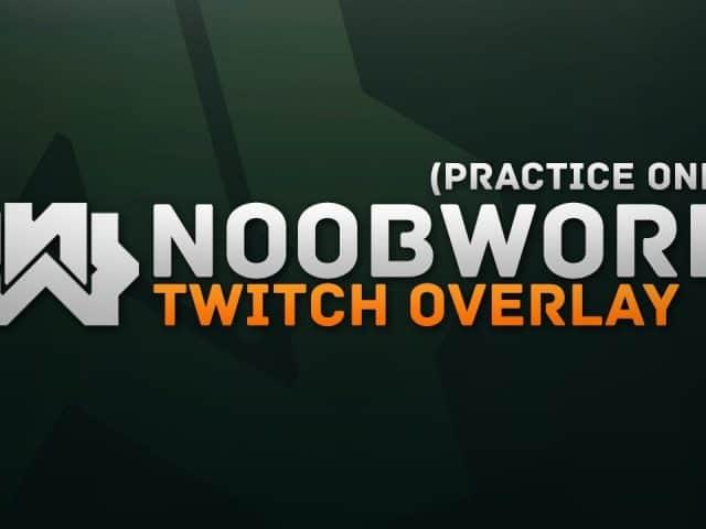 Noobwork | Twitch Overlay Speedart | Photoshop