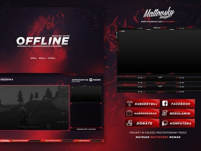 FREE TWITCH STREAM OVERLAY TEMPLATE 2018 #2