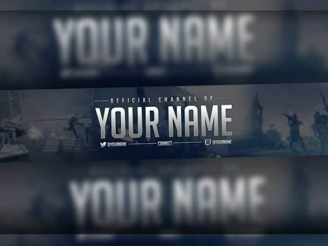 GAMING YouTube Banner FREE Template! (FREE Download)