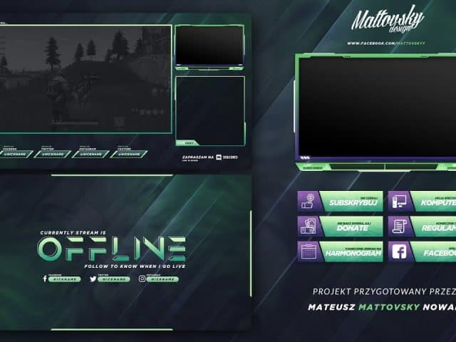 FREE TWITCH STREAM OVERLAY TEMPLATE 2018 #4