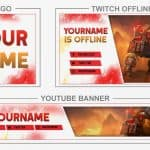 Earthshaker - Dota2 (Youtube Banner, Logo, Twitch Offline - Templates) + TUTORIAL (how to edit)