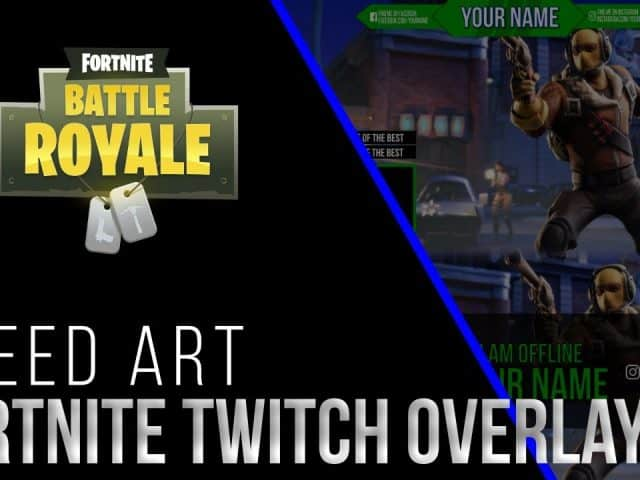 Fortnite Twitch overlay | Affinity Photo Speed art | Free Download | Lance Designs