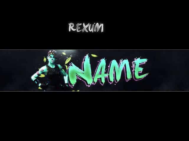 FREE FORNITE BANNER TEMPLATE | PHOTOSHOP | REXUM
