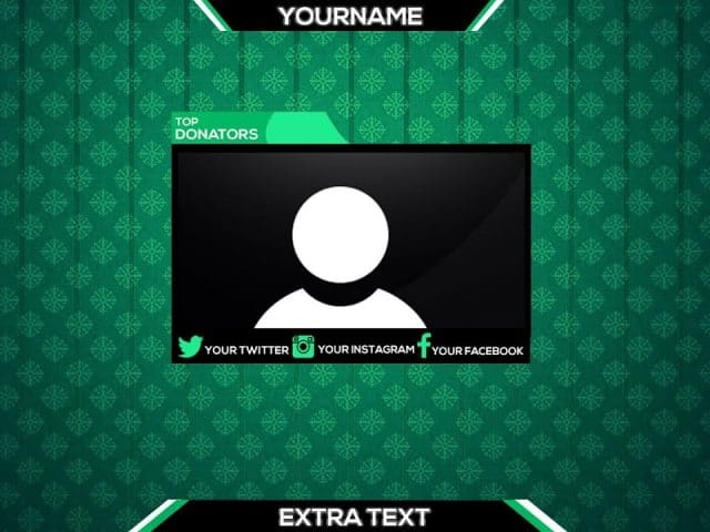 Download FREE Photoshop Stream Overlay Template For YouTube/Twitch | Speedart #2