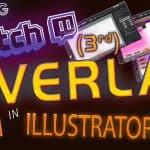 Making Third Twitch Overlay in Illustrator Speed Timelapse