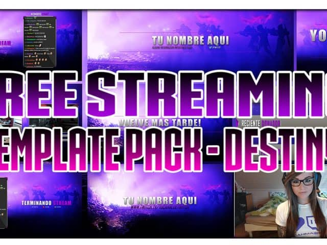 """FREE TWITCH TEMPLATE PACK: """"DESTINY"""" WEBCAM, BANNER, CHAT, THUMBNAILS, TWITCH ALERTS"""