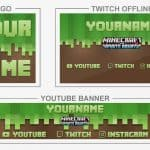Minecraft Aquatic (Youtube Banner, Logo, Twitch Offline - Templates) + TUTORIAL (how to edit)