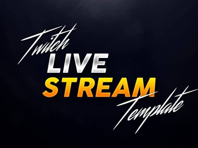 Simple Live Stream FREE Starter Pack Template | Twitch | Free Download (2017)