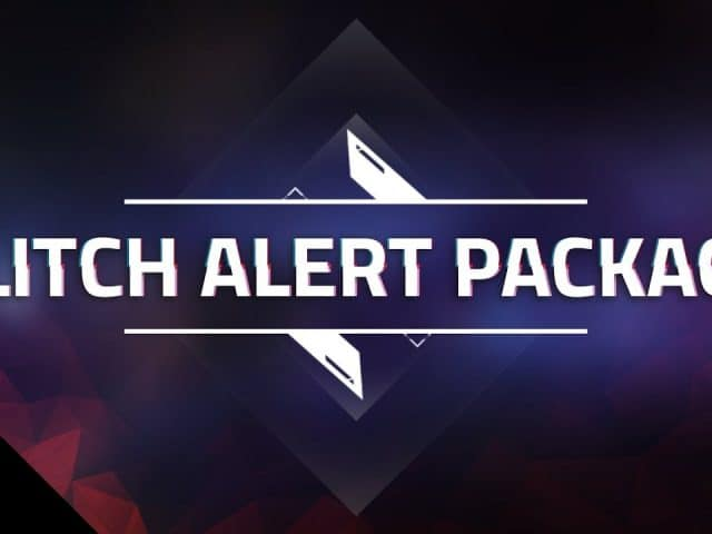 Glitch Alert Package – Custom StreamLabs Alerts for Twitch, YouTube, and Mixer