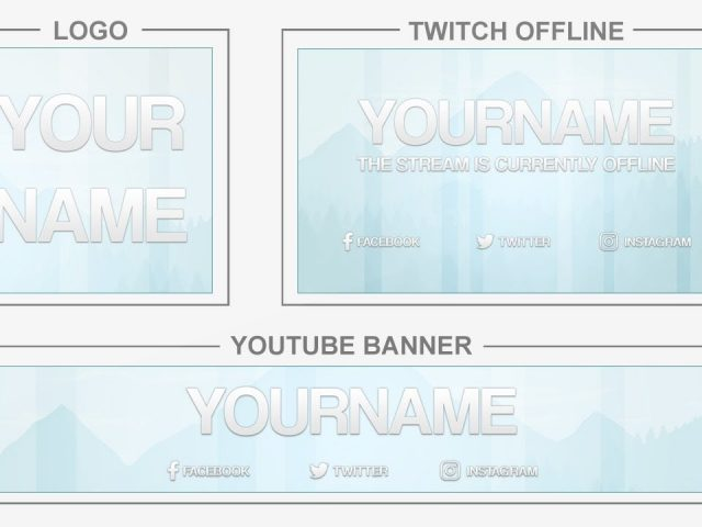 Glossy Nature (Youtube Banner, Logo, Twitch Offline – Templates) + TUTORIAL (how to edit)