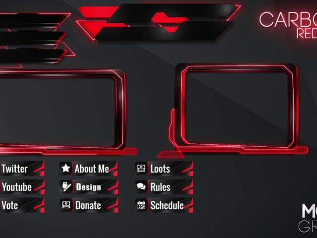 Stream Overlay Twitch Pack • Include Animated and Non-Animated version • MoveGraph