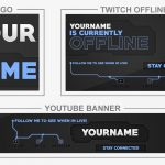 Blue Circuit (Youtube Banner, Logo, Twitch Offline - Templates) + TUTORIAL (how to edit)