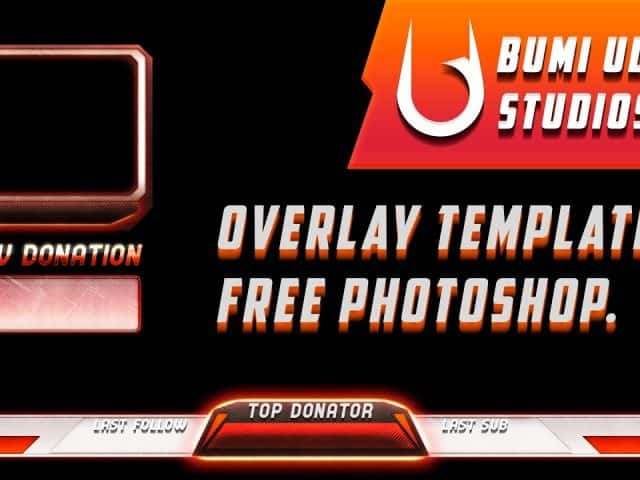 FREE GFX: photoshop twitch overlay template 1# gratis.