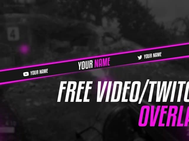 ✅FREE GFX: Simplistic Clean Twitch/Video Overlay PSD Template | Twitch | Free Download (2020)