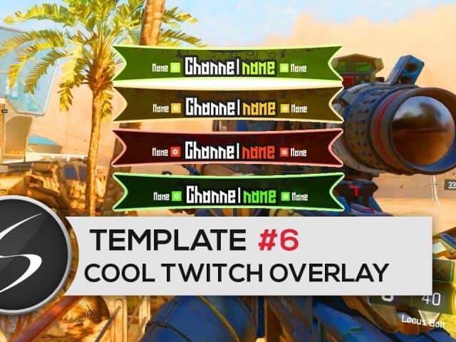 Cool GAMING Twitch Overlay Template #6 – Free Photoshop Download