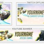 Overwatch (Banner, Logo, Twitch - Template) + TUTORIAL (how to edit) | www.WDFLAT.com