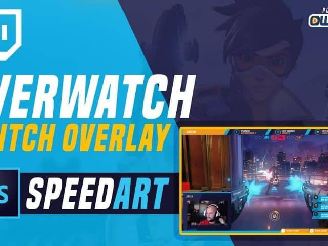 Overwatch Twitch Overlay SPEED DESIGN | Photoshop Tutorial | own3d.tv