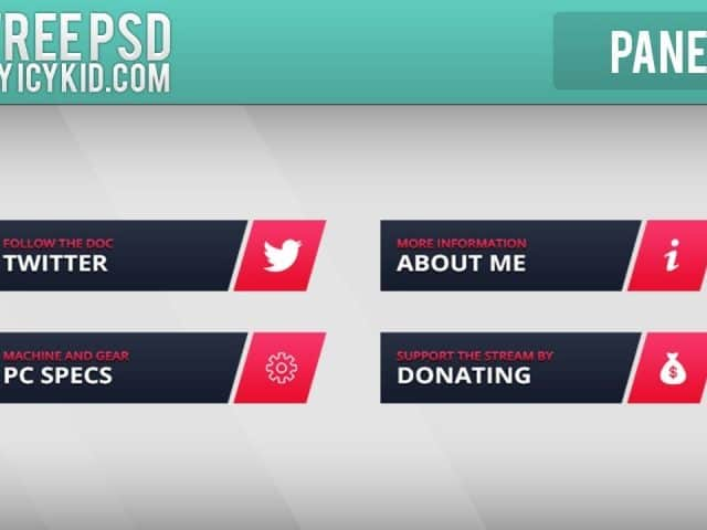 Free Twitch Panels – DrDisRespect Panels – PSD – Free Download