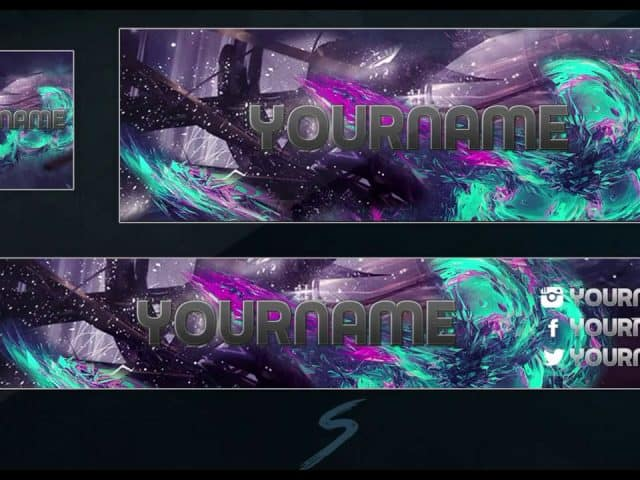 Youtube Banner Template + Twitch Head + Youtube Avatar