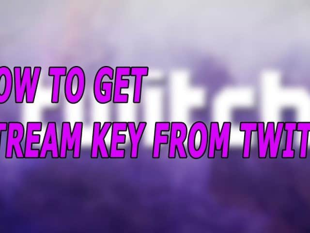 How To Get Stream Key From Twitch 2018